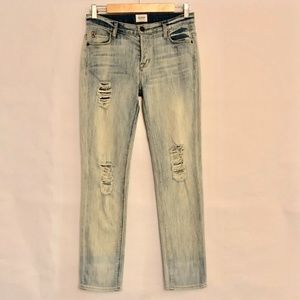 Hudson Distressed Light Wash Skinny Jeans Size 24